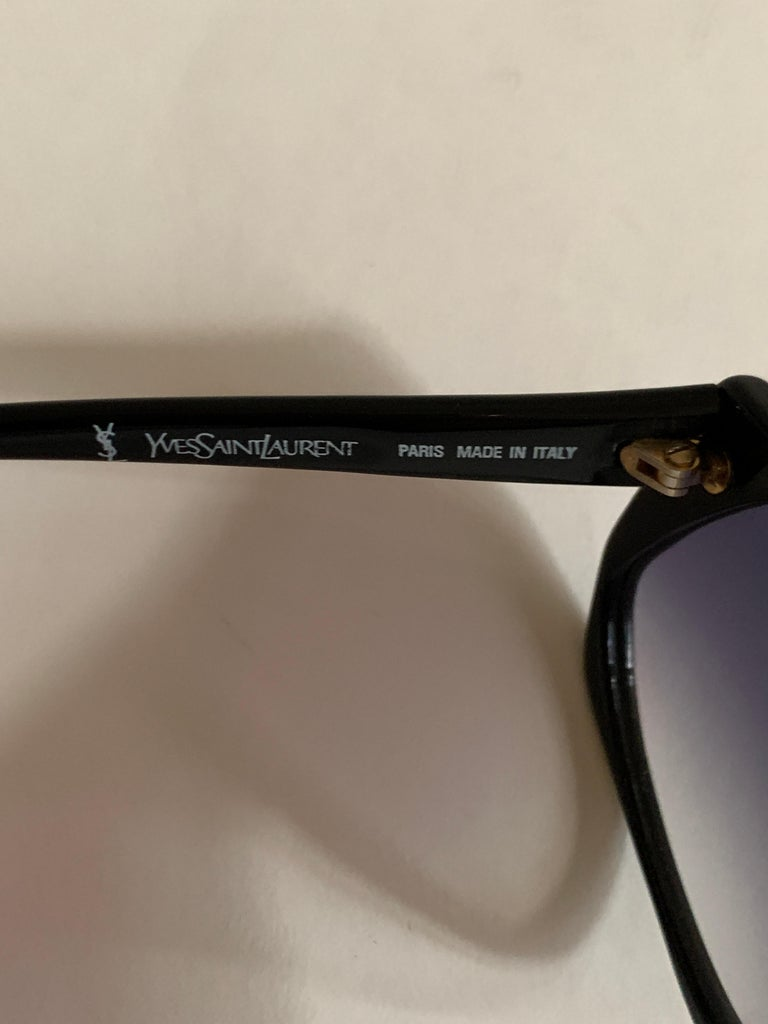 Yves Saint Laurent 1980s Black and Red Vintage Sunglasses YSL Logo Museum Piece For Sale 5