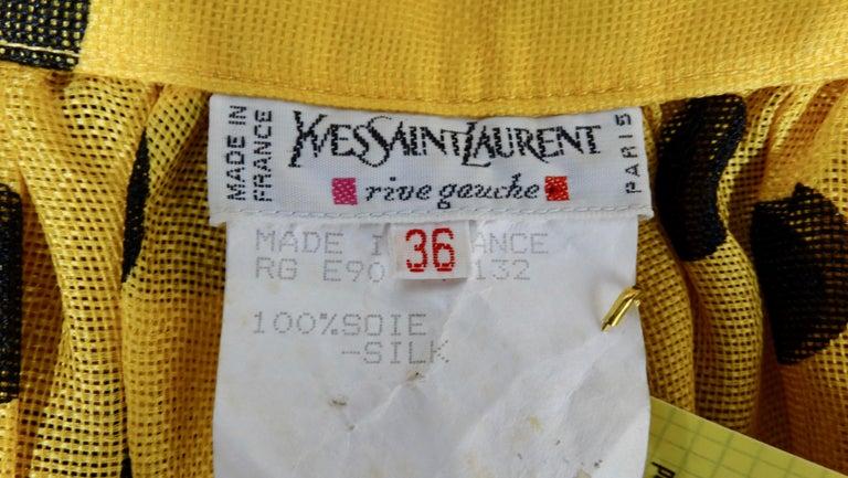 Yves Saint Laurent 1980s Polka Dot High Waisted Skirt  In Good Condition For Sale In Scottsdale, AZ