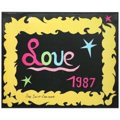 """Yves Saint Laurent 1987 """"LOVE"""" Poster"""