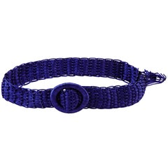 Yves Saint Laurent 1990s Purple Silk Braided Belt