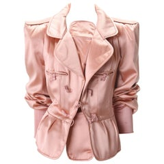 YVES SAINT LAURENT 2004 Tom Ford Final Collection Silk Jacket w/ Tags sz42