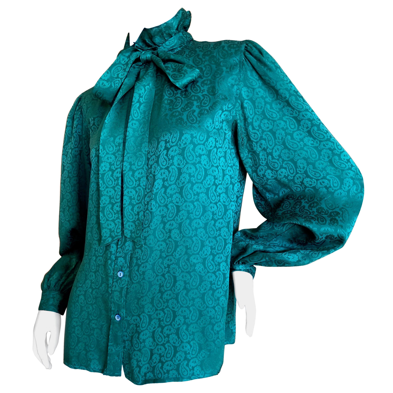 e4987f35f3b Vintage Yves Saint Laurent Blouses - 121 For Sale at 1stdibs