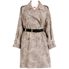 Yves Saint Laurent Animal Print Trench Coat