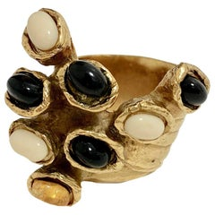 YVES SAINT LAURENT Arty Ring By Stefano Pilati
