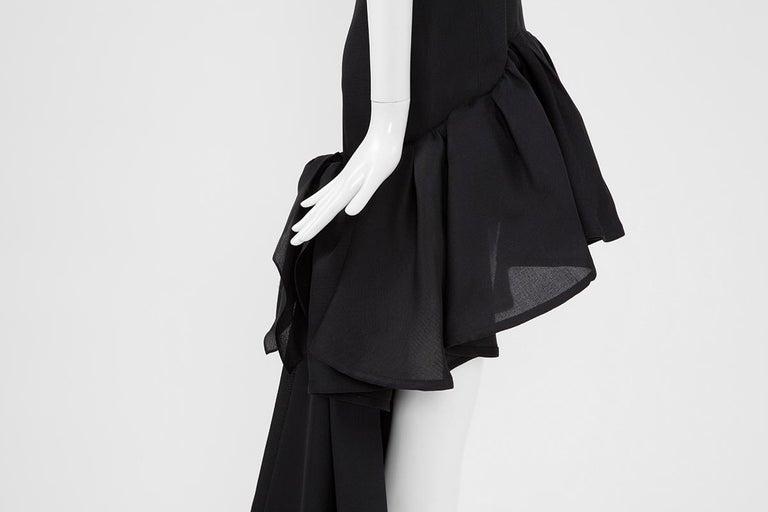 Yves Saint Laurent Asymmetric Ruffled Bow Evening Dress For Sale 6