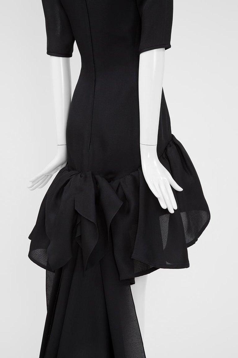 Yves Saint Laurent Asymmetric Ruffled Bow Evening Dress For Sale 8