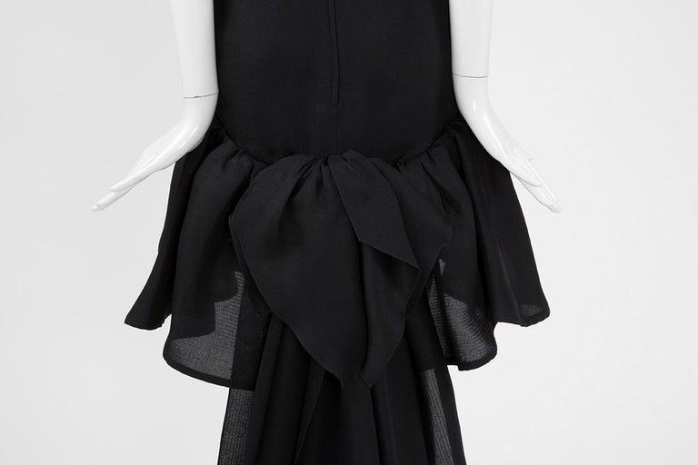 Yves Saint Laurent Asymmetric Ruffled Bow Evening Dress For Sale 10