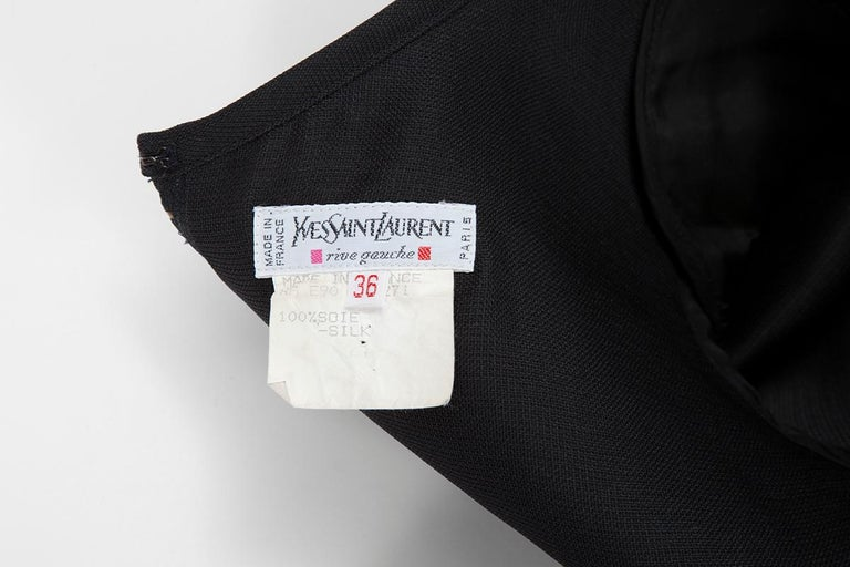 Yves Saint Laurent Asymmetric Ruffled Bow Evening Dress For Sale 11
