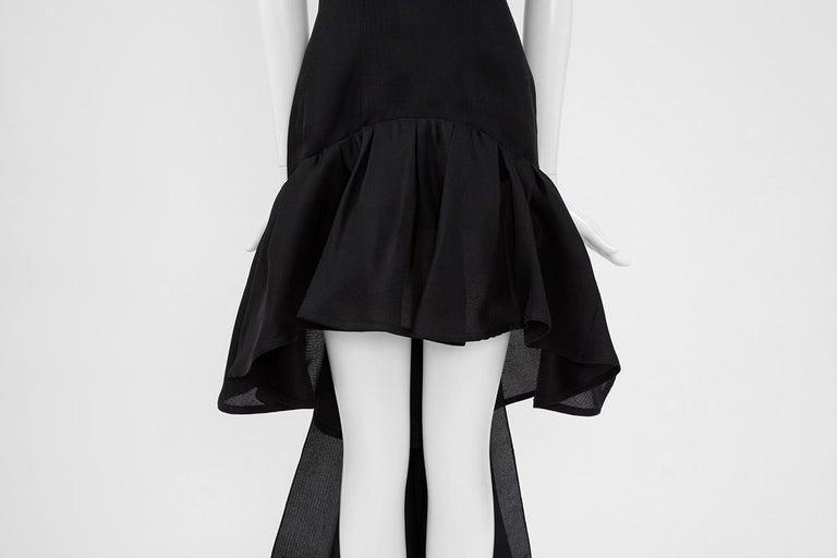 Women's Yves Saint Laurent Asymmetric Ruffled Bow Evening Dress For Sale