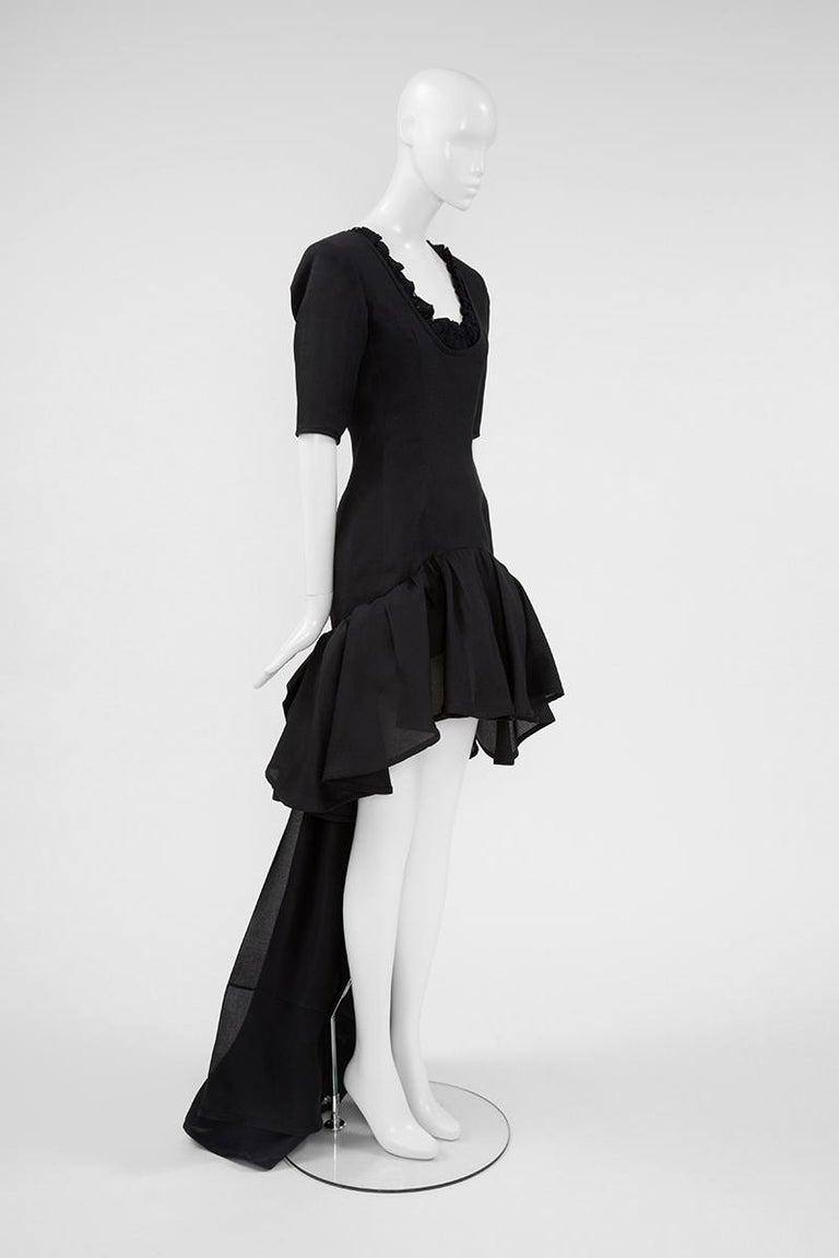 Yves Saint Laurent Asymmetric Ruffled Bow Evening Dress For Sale 1