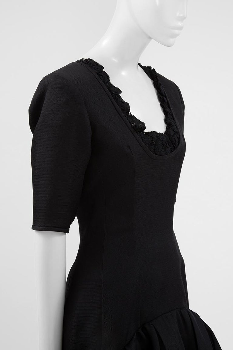 Yves Saint Laurent Asymmetric Ruffled Bow Evening Dress For Sale 2