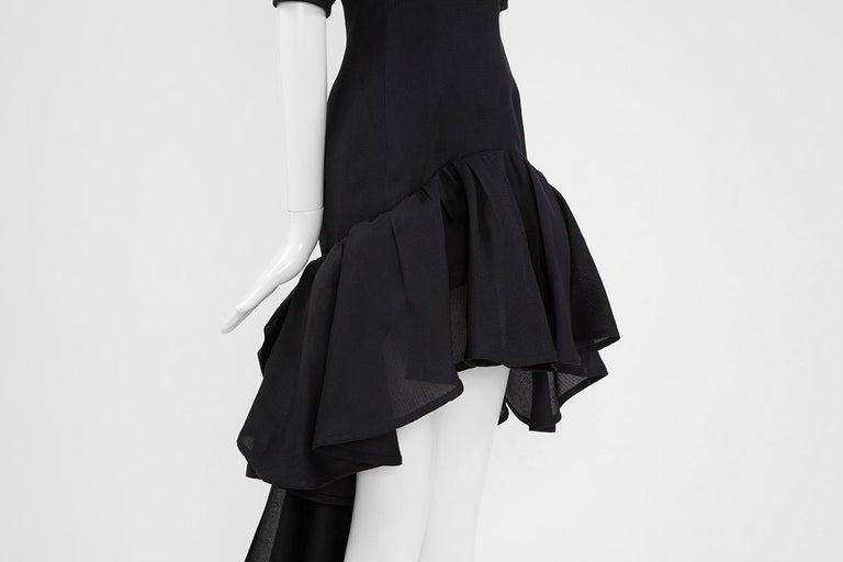 Yves Saint Laurent Asymmetric Ruffled Bow Evening Dress For Sale 3
