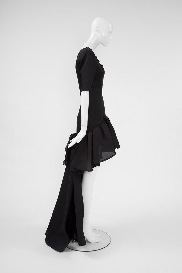 Yves Saint Laurent Asymmetric Ruffled Bow Evening Dress For Sale 5