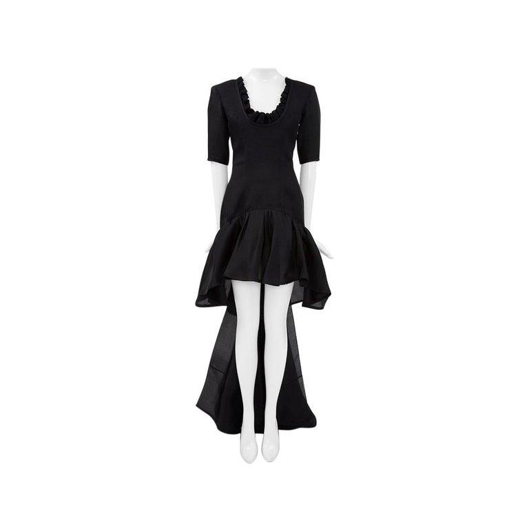 Yves Saint Laurent Asymmetric Ruffled Bow Evening Dress For Sale