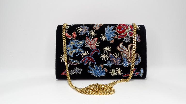 Black Yves Saint Laurent Beaded Kate Bag For Sale