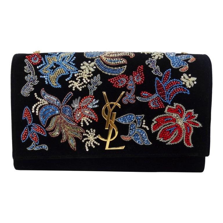 Yves Saint Laurent Beaded Kate Bag For Sale