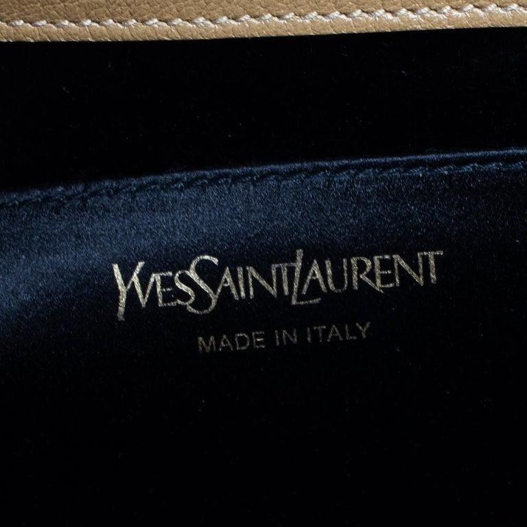 Yves Saint Laurent Beige Leather Belle De Jour Clutch For Sale 6