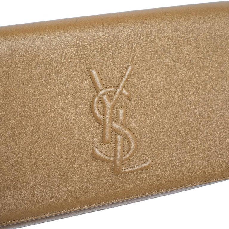 Yves Saint Laurent Beige Leather Belle De Jour Clutch For Sale 8