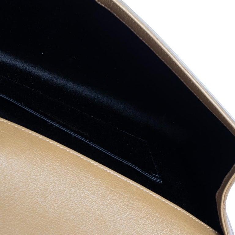 Yves Saint Laurent Beige Leather Belle De Jour Clutch For Sale 2