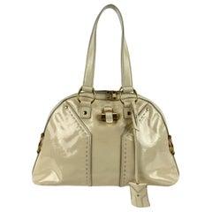 Yves Saint Laurent Beige Leather Muse Tote Shoulder Bag