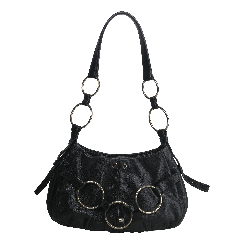 Yves Saint Laurent Black and Gold Hardware Shoulder Bag
