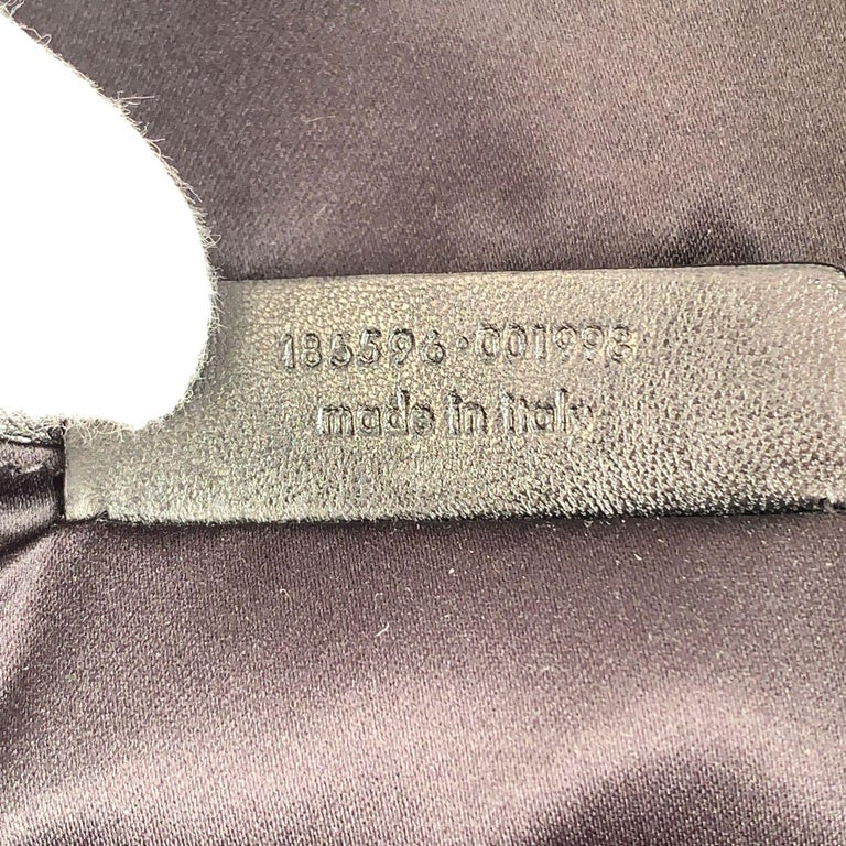 Yves Saint Laurent Black Croc Embossed Patent Leather Raspail Bag For Sale 6