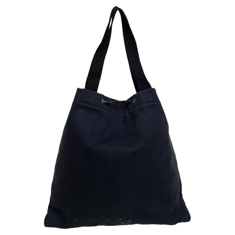 Women's Yves Saint Laurent Black Fabric Kahala Drawstring Tote For Sale