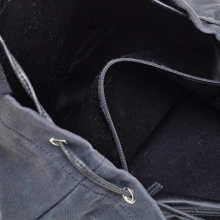Yves Saint Laurent Black Fabric Kahala Drawstring Tote For Sale 5
