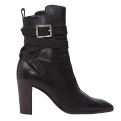 Yves Saint Laurent Black Leather Ankle Boots