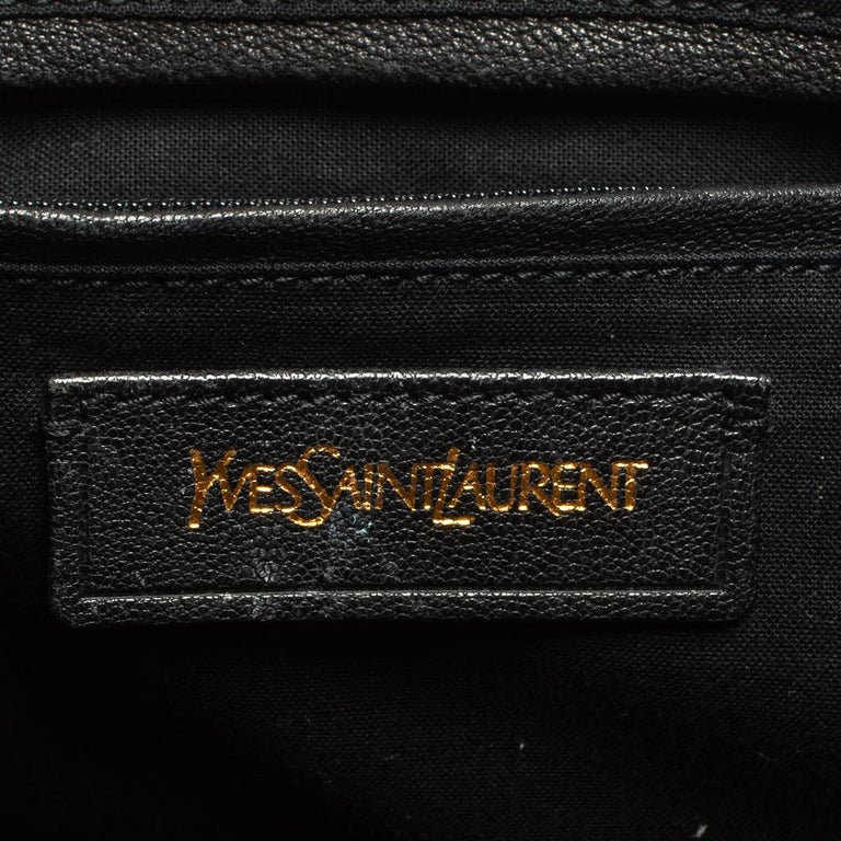 Yves Saint Laurent Black Leather Large Cabas Chyc Tote For Sale 6
