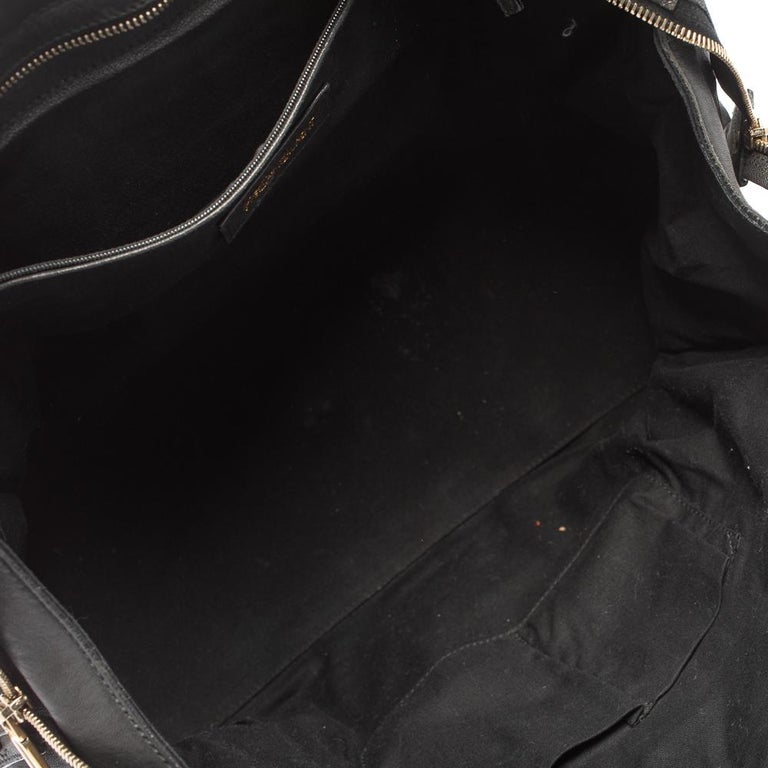 Yves Saint Laurent Black Leather Large Cabas Chyc Tote For Sale 1