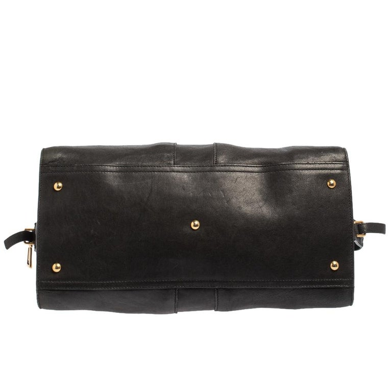 Yves Saint Laurent Black Leather Large Cabas Chyc Tote For Sale 2