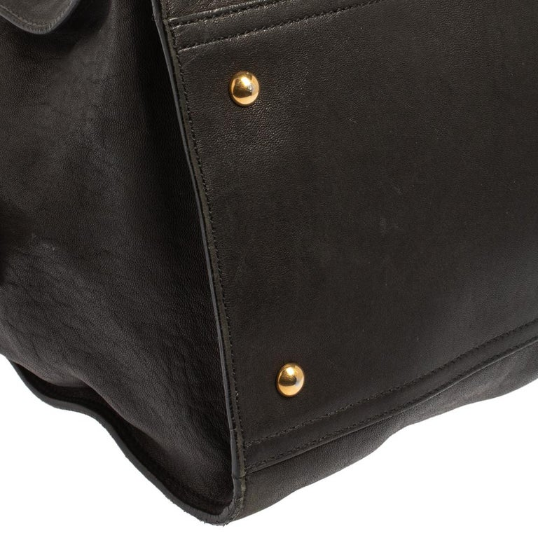 Yves Saint Laurent Black Leather Large Cabas Chyc Tote For Sale 3