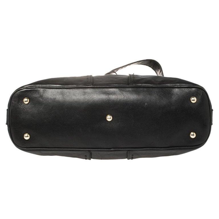 Yves Saint Laurent Black Leather Medium Muse Satchel For Sale 7