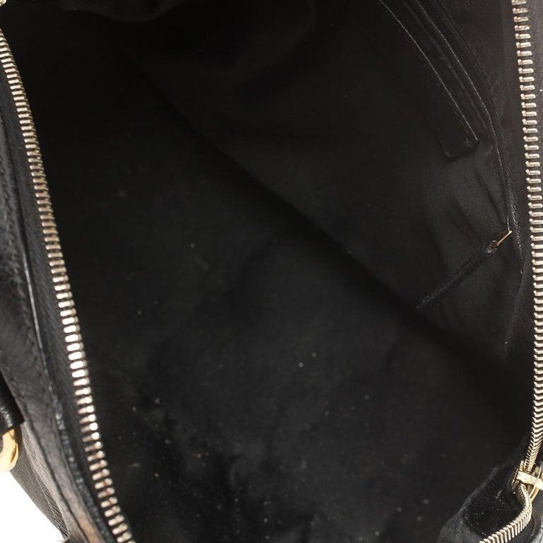 Yves Saint Laurent Black Leather Medium Muse Satchel For Sale 1