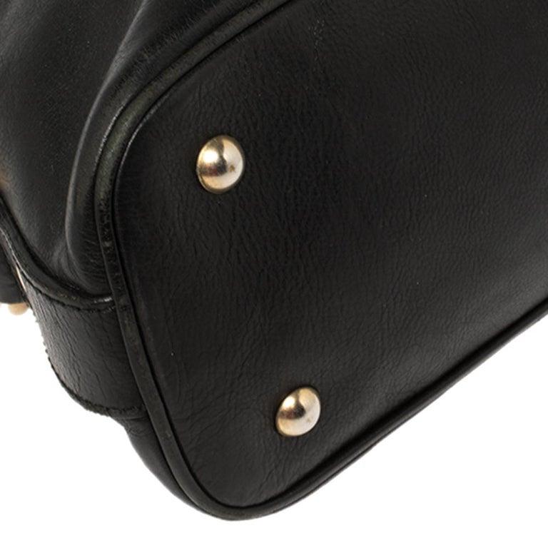 Yves Saint Laurent Black Leather Medium Muse Satchel For Sale 3