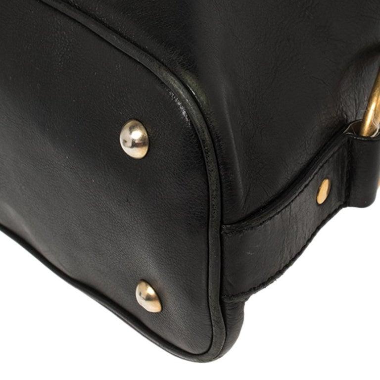 Yves Saint Laurent Black Leather Medium Muse Satchel For Sale 4