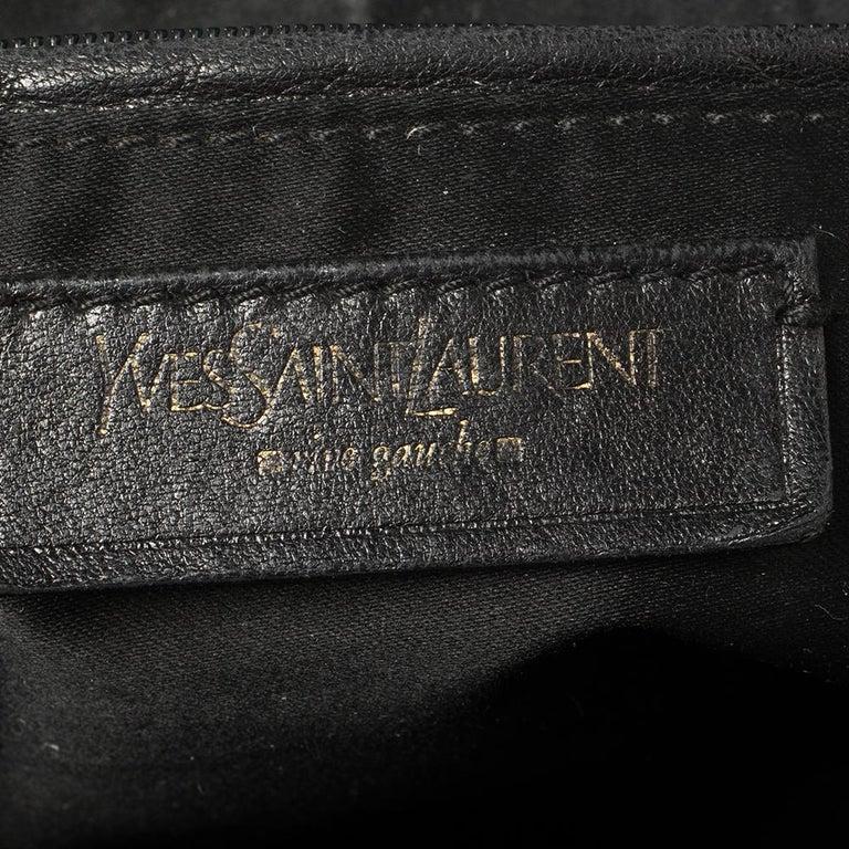 Yves Saint Laurent Black Leather Medium Muse Satchel For Sale 5
