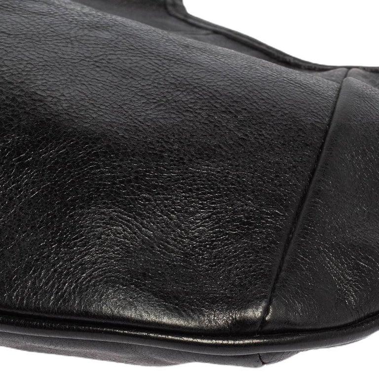 Yves Saint Laurent Black Leather Mini Mombasa Hobo For Sale 4