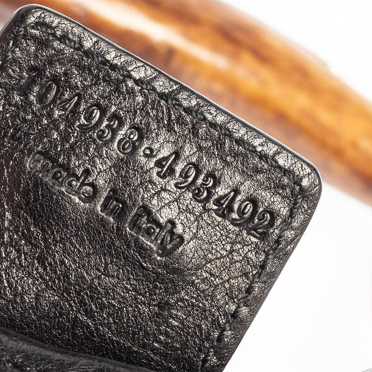 Yves Saint Laurent Black Leather Mini Mombasa Hobo For Sale 5