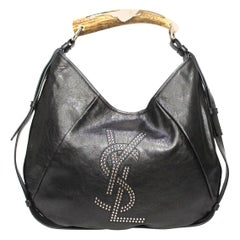 Yves Saint Laurent Black Leather Mombasa Bag