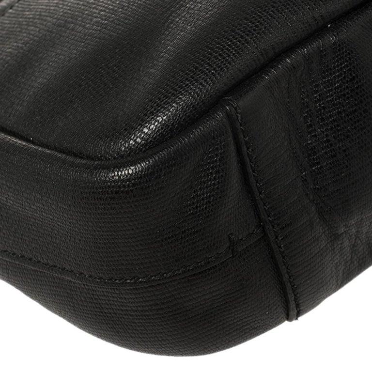 Yves Saint Laurent Black Leather Pouch For Sale 7