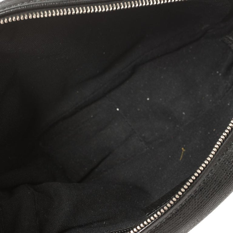 Yves Saint Laurent Black Leather Pouch For Sale 8