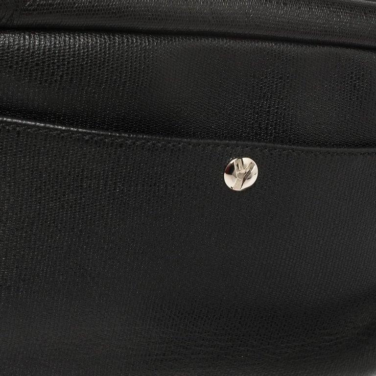 Yves Saint Laurent Black Leather Pouch For Sale 4