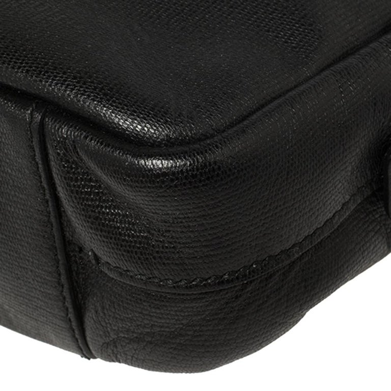 Yves Saint Laurent Black Leather Pouch For Sale 5