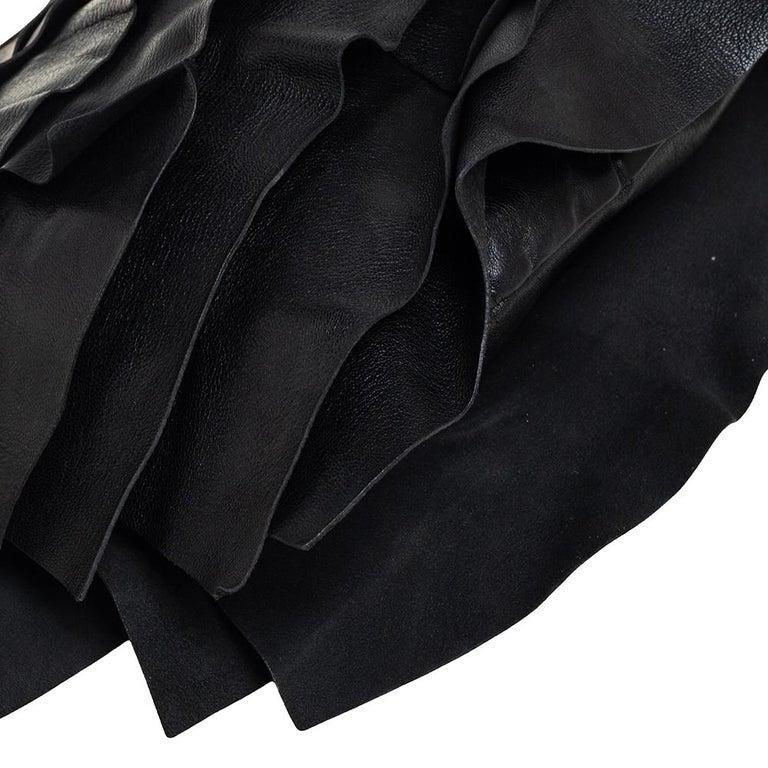 Yves Saint Laurent Black Leather St. Tropez Mombasa Hobo For Sale 6