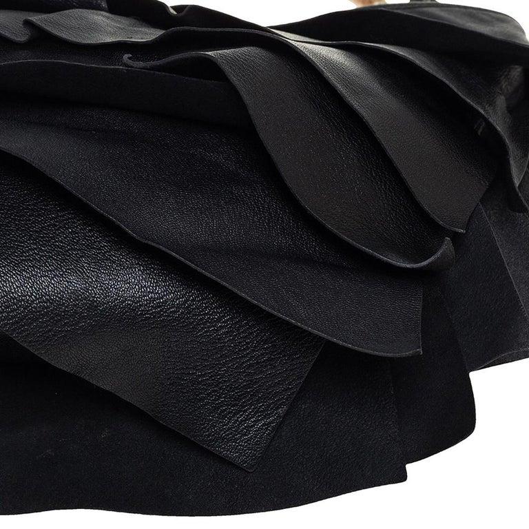 Women's Yves Saint Laurent Black Leather St. Tropez Mombasa Hobo For Sale