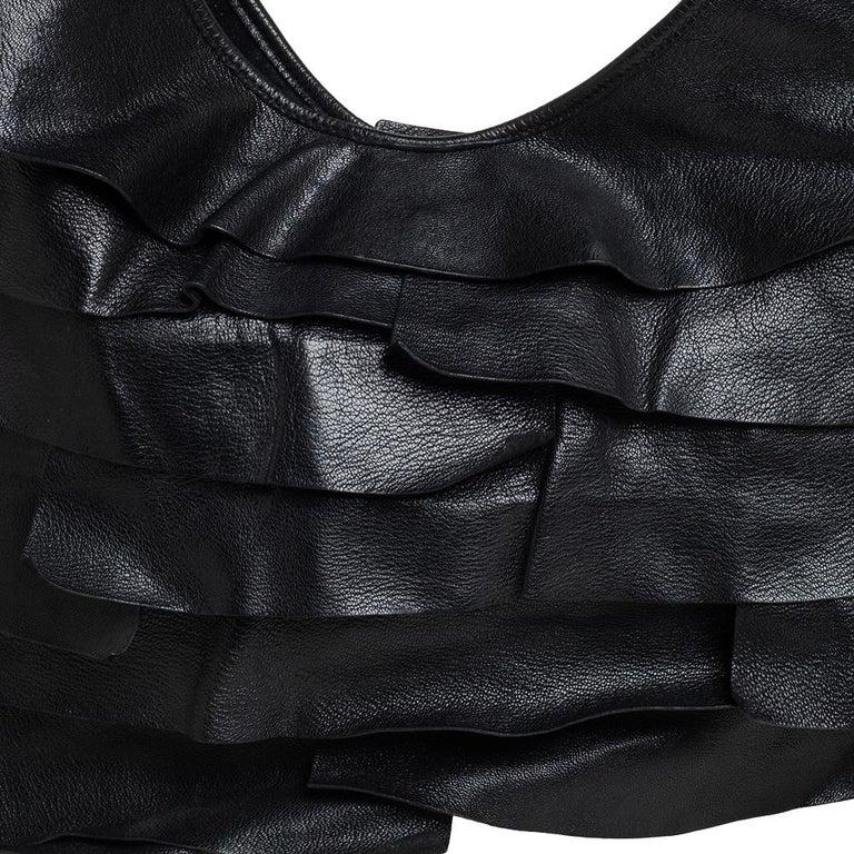 Yves Saint Laurent Black Leather St. Tropez Mombasa Hobo For Sale 1