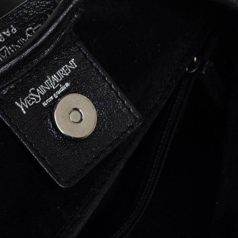 Yves Saint Laurent Black Leather St. Tropez Mombasa Hobo For Sale 2