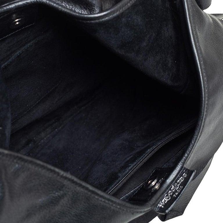 Yves Saint Laurent Black Leather St. Tropez Mombasa Hobo For Sale 4